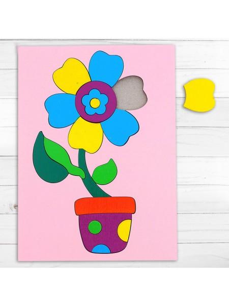 Головоломка «Собери картинку: цветочек», 18 элементов