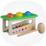 Головоломки игрушки из дерева, стучалки, горки
