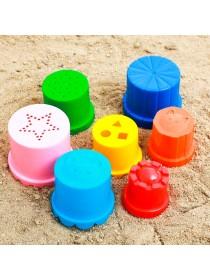 Наборы для игры с песком Пирамидка стаканчики