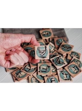 Мемори «Ферма» в деревянной коробочке Царицынская игрушка (Радуга Кидс) CI-ME011