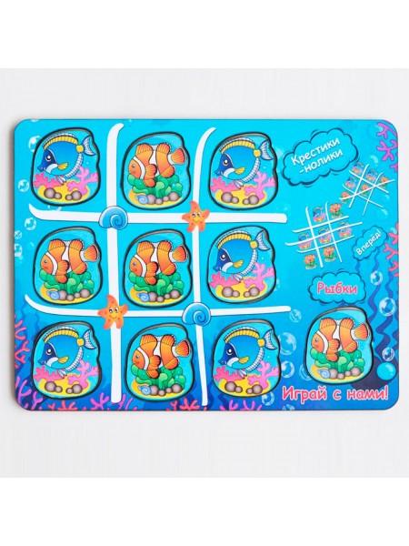 Рамка-вкладыш Крестики-нолики Водный мир, Мастер игрушек IG0035