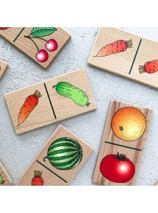 Настольная игра Домино «Фрукты — овощи» Царицынская игрушка CI-NI001