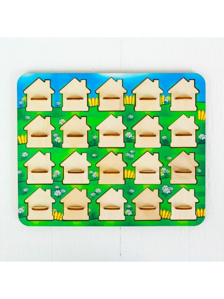 Игра Мемо домики, Smile Decor П044
