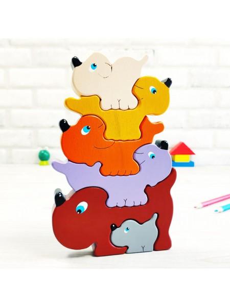 Объемная игрушка Пазл-балансир Собачки