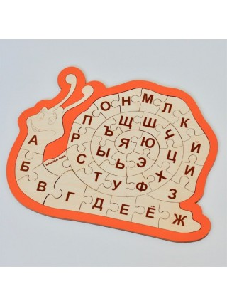 Пазл Улитка алфавит Радуга кидс