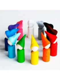 Сортер Разноцветные гномики 12 штук, в колпаках